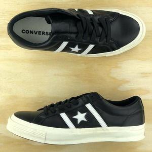 Converse One Star Academy Black Premium Leather Sz